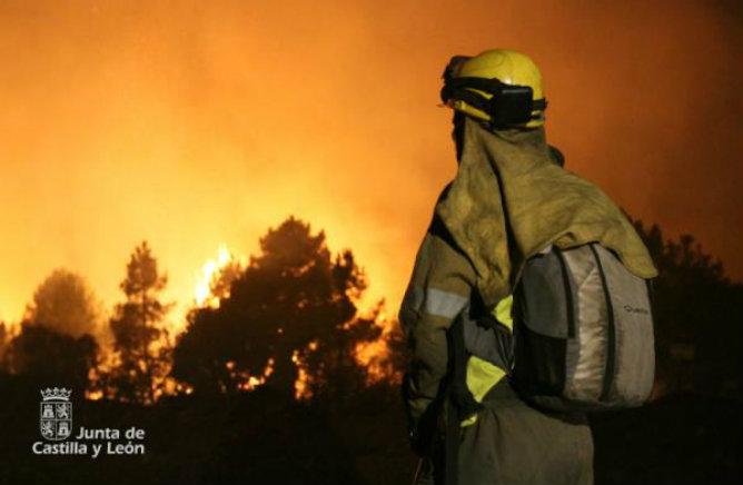 Incendio Bombero Junta Castilla y León
