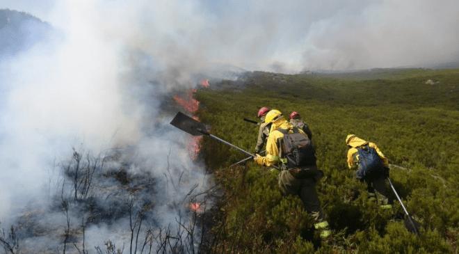 incendio bomberos extinción