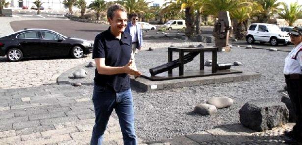 Jos eLuis Rodroguez Zapatero vacaciones Lanzarote