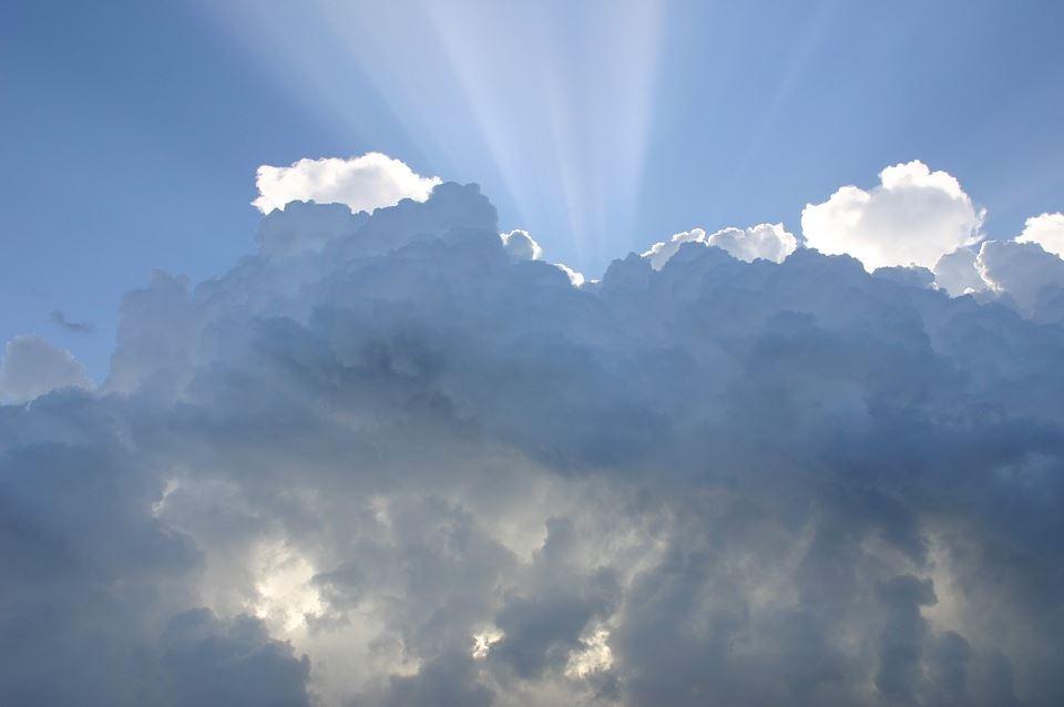nubes sol cielo tiempo meteorologia