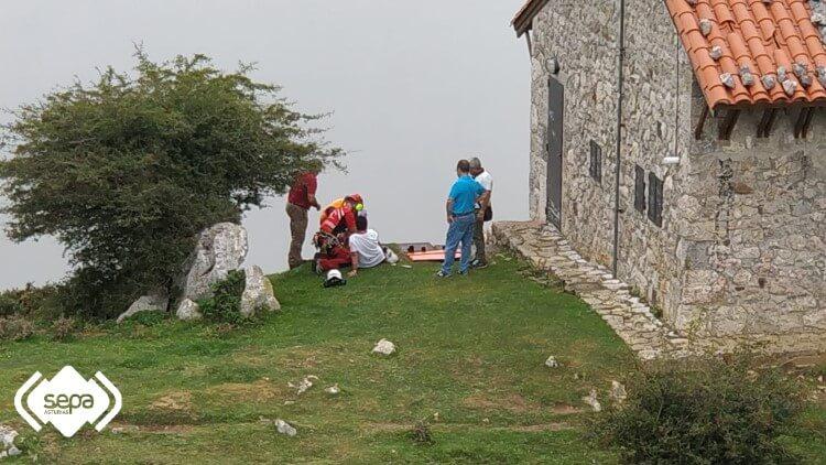 rescate mujer sepa cangas de onis covadonga mirador