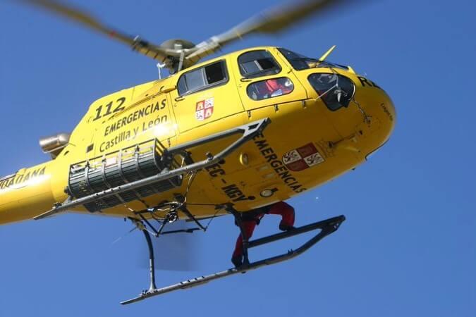 helicoptero accidente 112 navidad tráfico heridos menores mujer varón hombre fallecido rescate