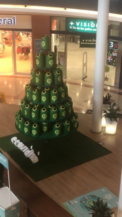 Arbol de Navidad Reciclaje Espacio León