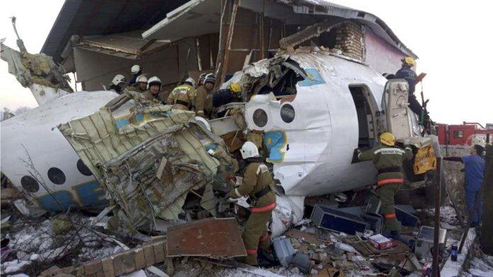 sobrevivientes accidente avión Kazajistán