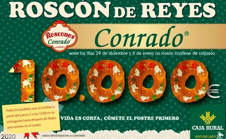 Roscón de Reyes La Bañeza León 10.000 euros