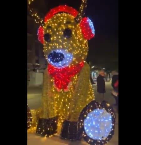 adorno de Navidad en Cataluña pro España