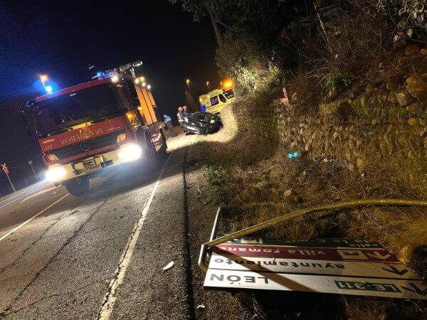 accidente en Villaquilambre Bomberos de León