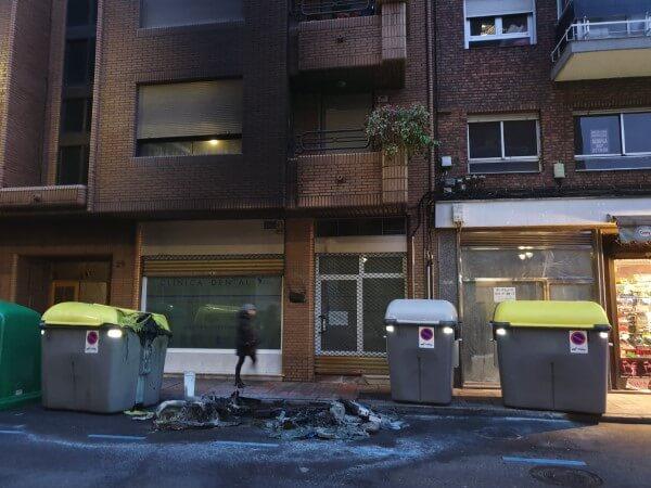 Incendio contenedor en el centro de León capital