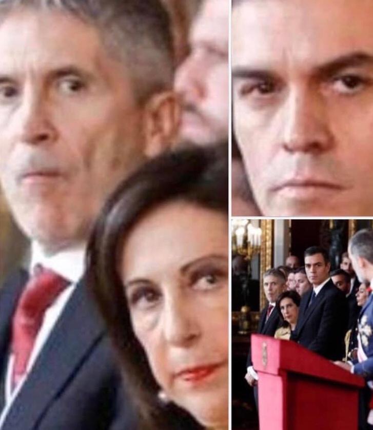 La mirada asesina de Pedro Sánchez al Rey