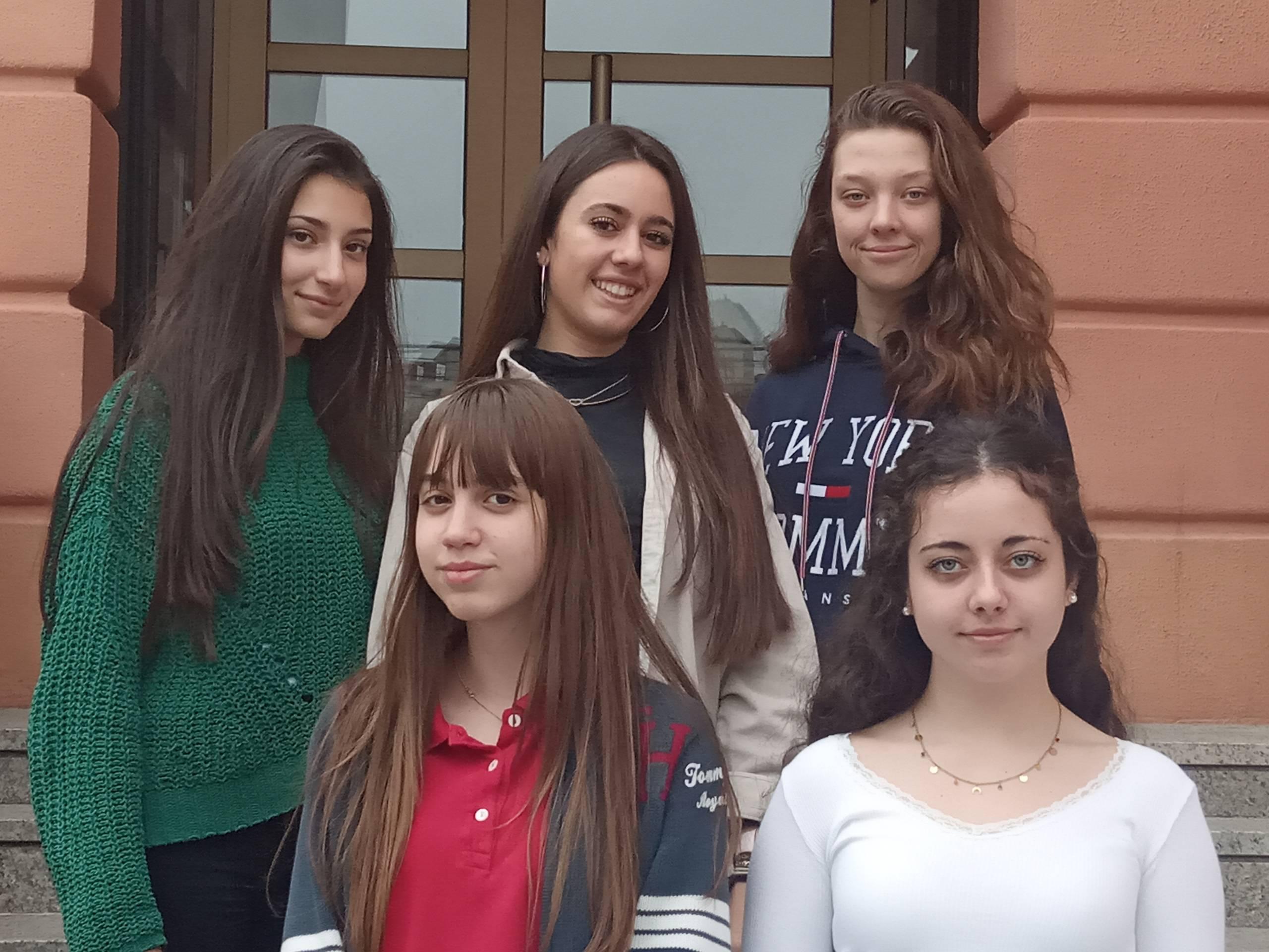 Alumnos del Colegio Divina Pastora de León