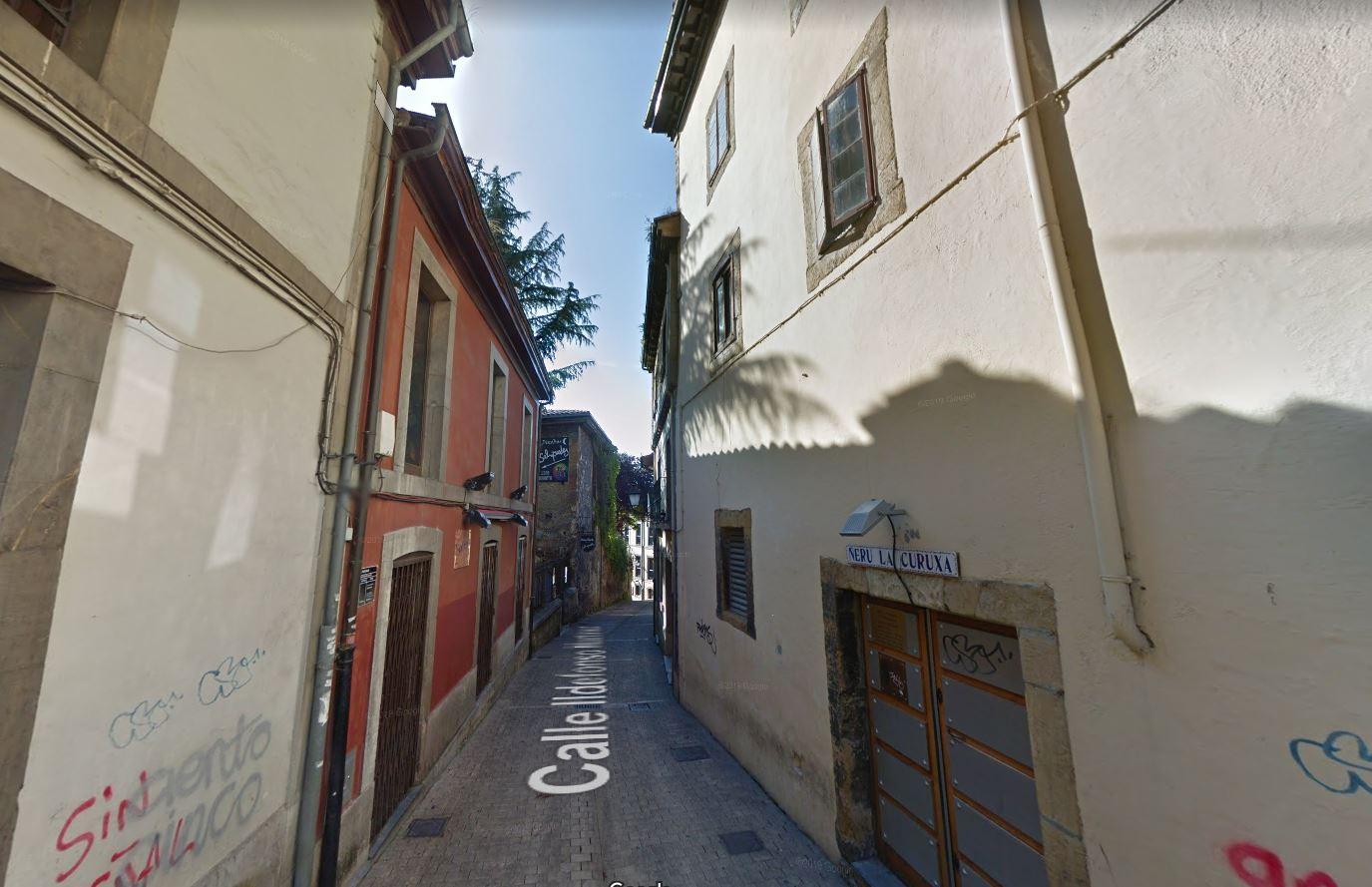 Despliegue policial y redada en el centro de Oviedo