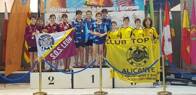 Club Deportivo Salvamento León en el Campeonato de España de Invierno