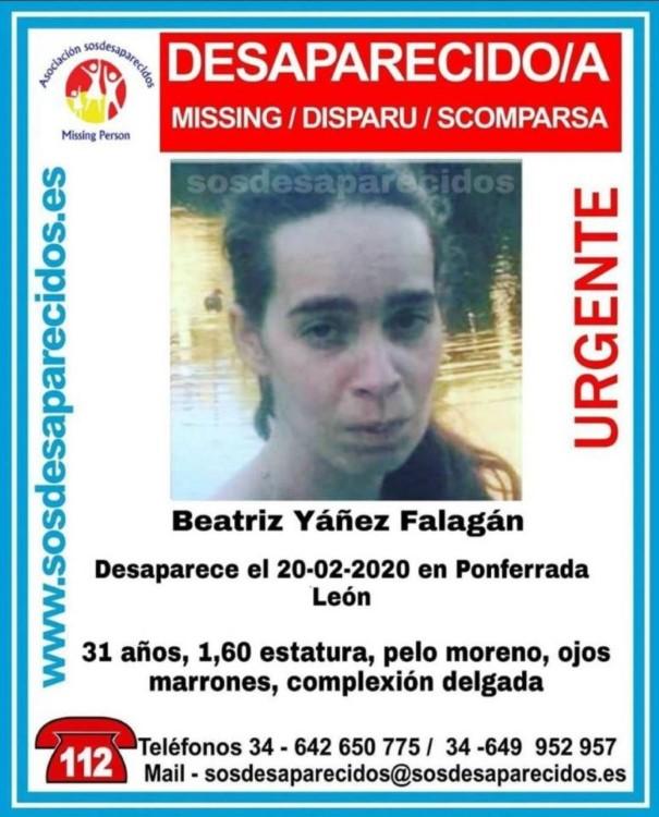 mujer desaparecida en ponferrada cartel