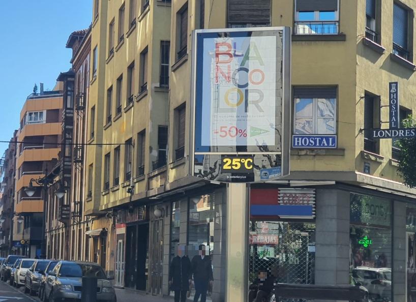 Sorprendente temperatura hoy en León