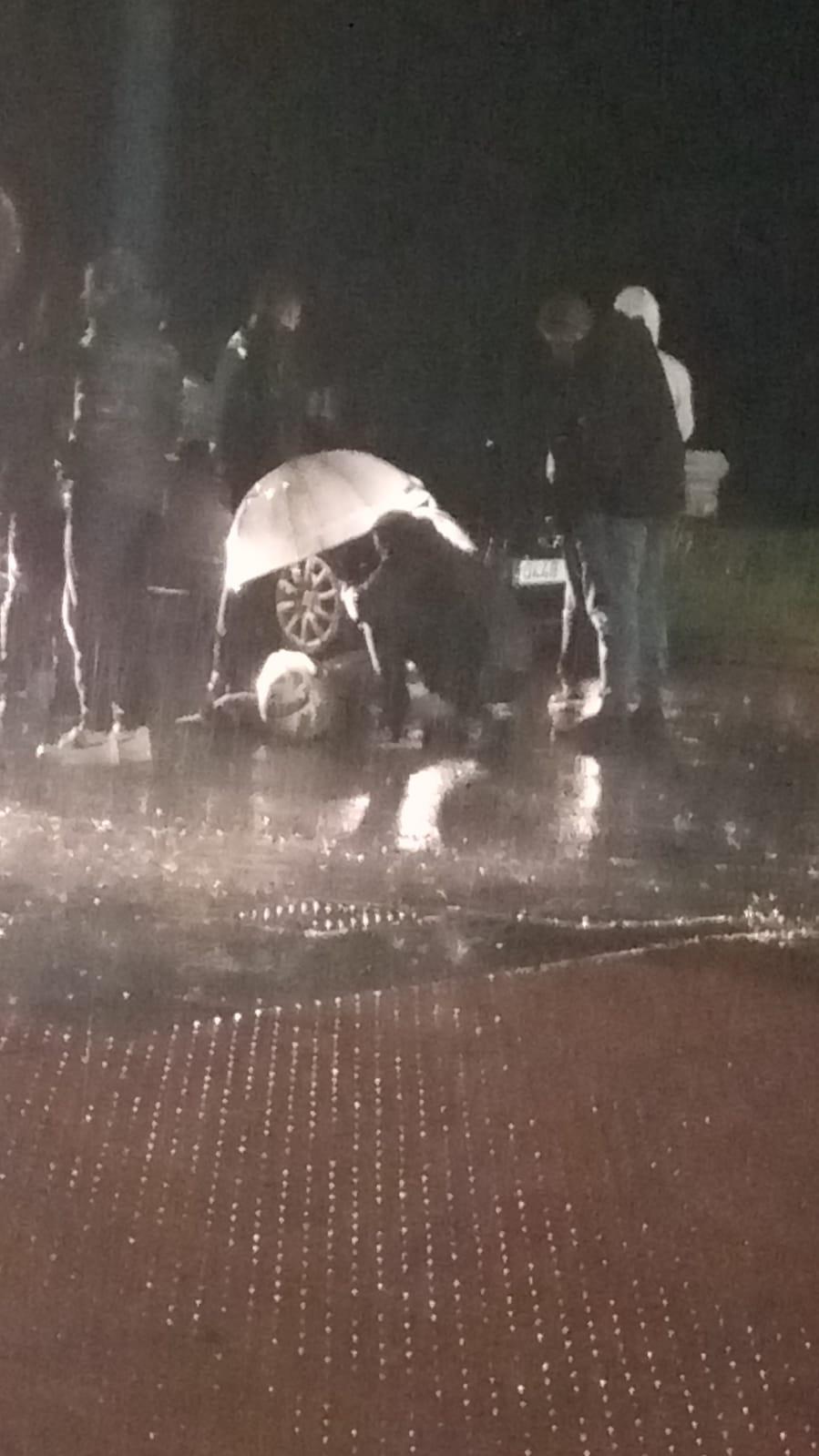 Motorista herido en un accidente en el León
