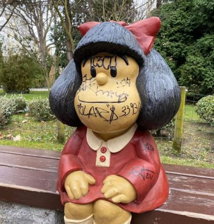 Mafalda actos vandálicos