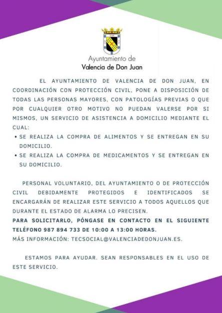 Valencia de Don Juan cuarentena