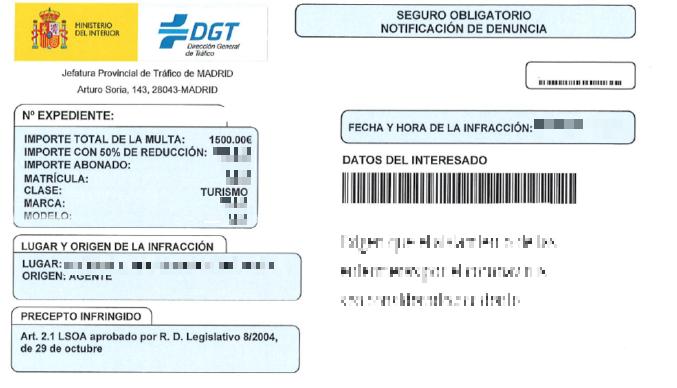 La DGT alerta de la multa falsa que esta llegando a los conductores