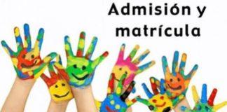admisión alumnos 2020