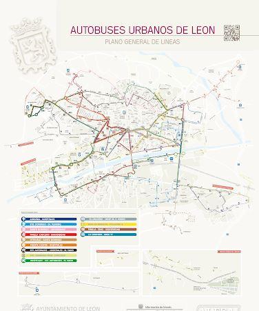 autobús urbano de león mapa nuevo horario por coronavirus