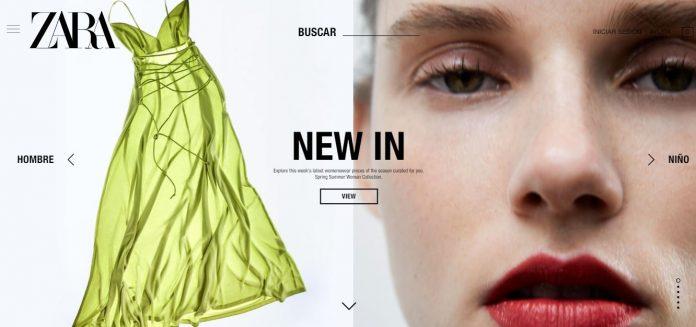 web de Zara envío a domicilio