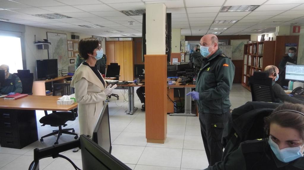 La Directora General de la Guardia Civil visita la Comandancia conoce de primera mano el trabajo durante el Estado de Alarma