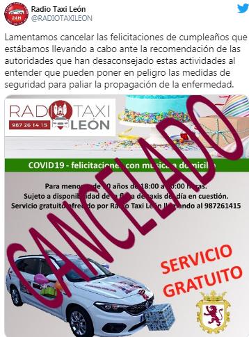 Los taxistas de León ya no felicitarán los cumpleaños