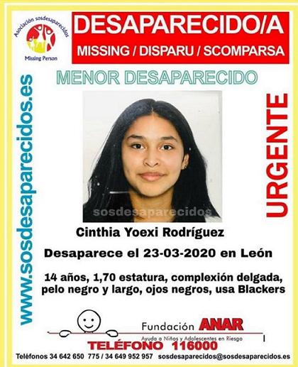 URGENTE  Menor de 14 años desaparecida en León