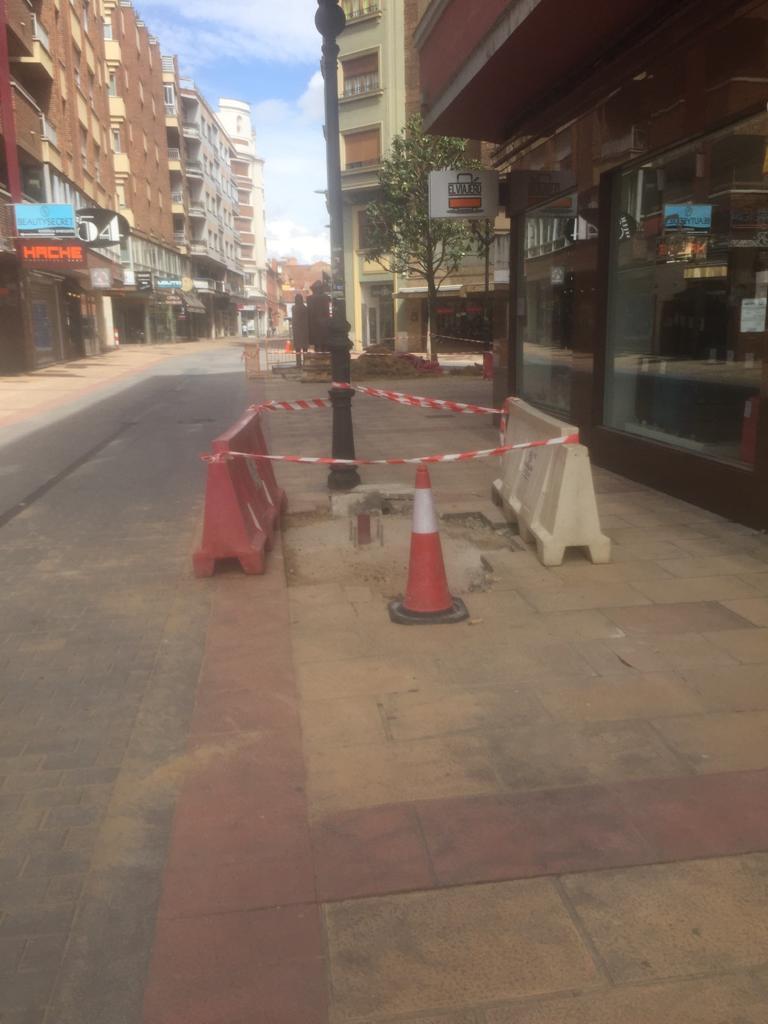 farolas de la calle burgo nuevo cambian