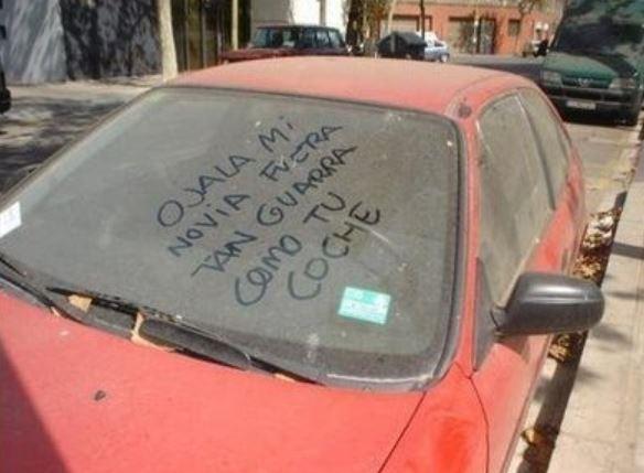 mensajes obscenos coches en soria