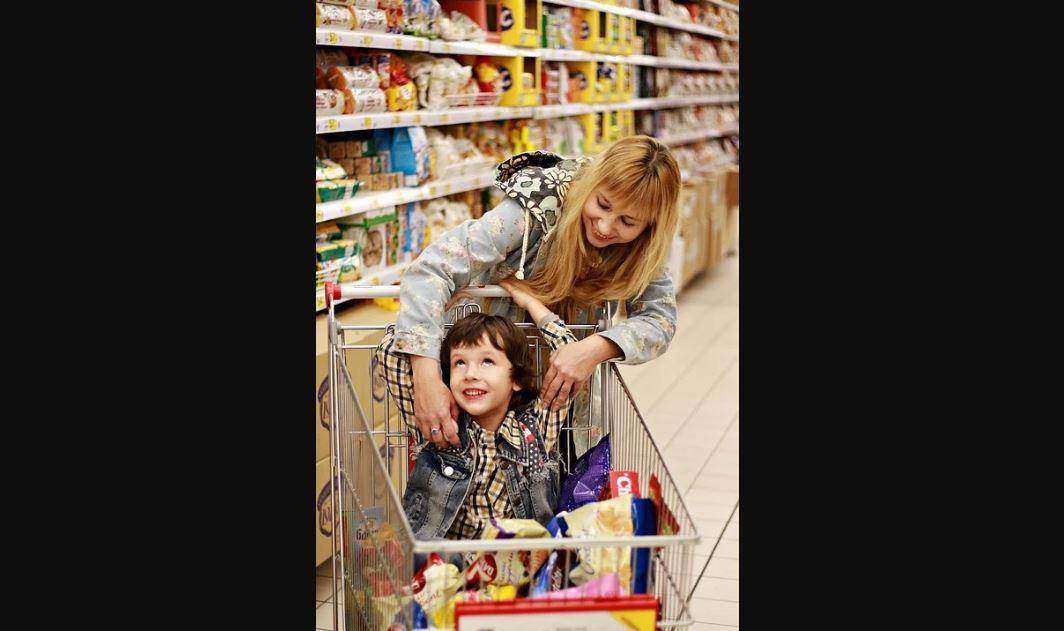 niños supermercado