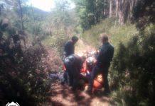 Rescatado un hombre de 62 años con quemaduras graves