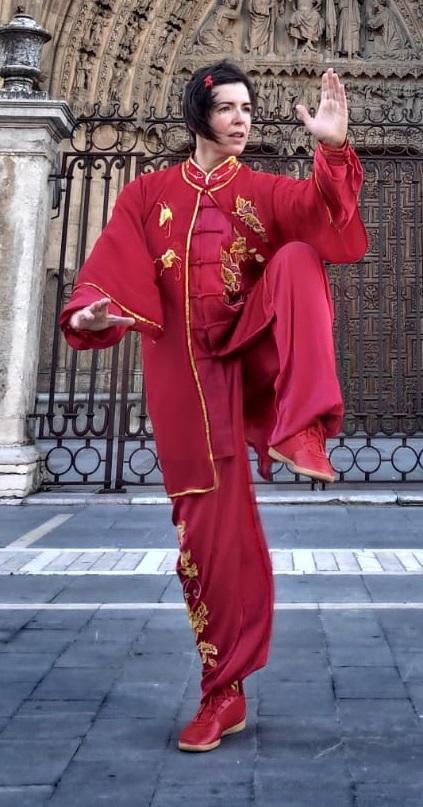 La leonesa Eva de Paz, en el European Special Wushu Championships
