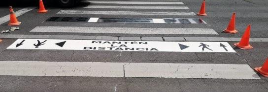 SeñSeñalización necesaria para mantener la distancia seguridad en Leónalización necesaria para mantener la distancia seguridad en León