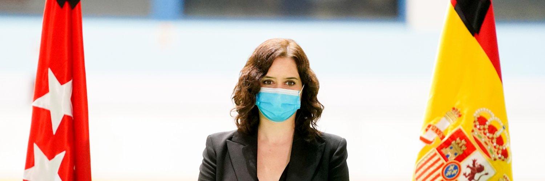 Isabel D. Ayuso renovará a los 10.000 sanitarios que luchan contra el Covid-19