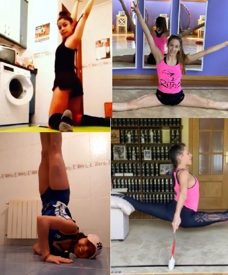 Duro trabajo de las gimnastas del Club Ritmo durante el estado de alarma