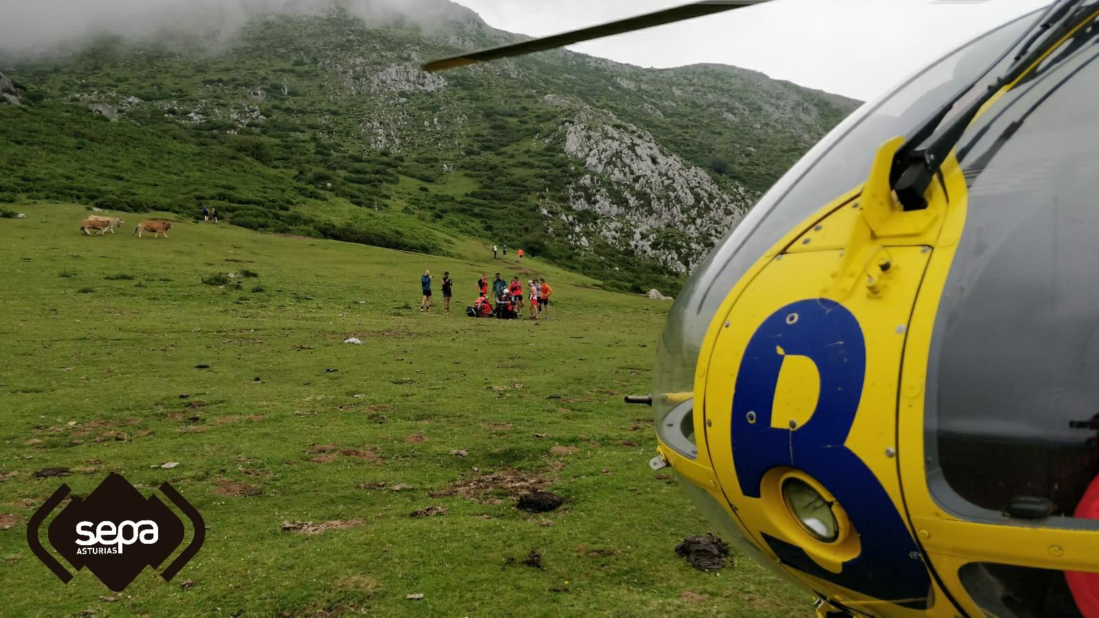 Un joven de 19 años evacuado a bordo del helicóptero medicalizado