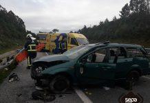 Herido grave un hombre de 42 años en un accidente de tráfico