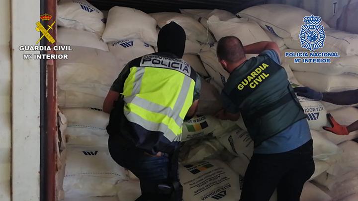 Incautados un total de 3.800 kilogramos de cocaína