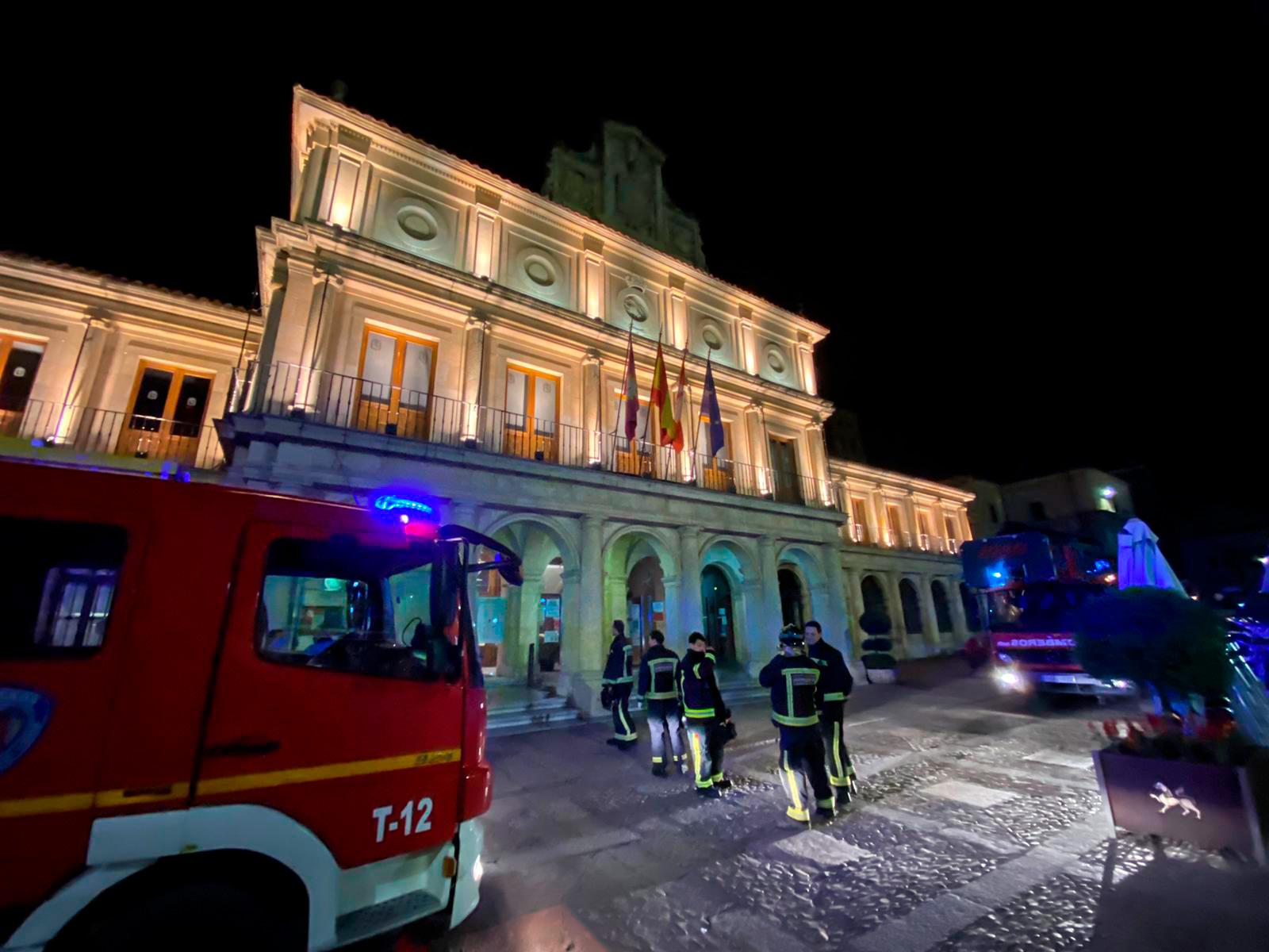 Falsa alarma de incendio en la Plaza San Marcelo esta noche