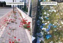 Imágenes reales de el confinamiento vs la desescalada
