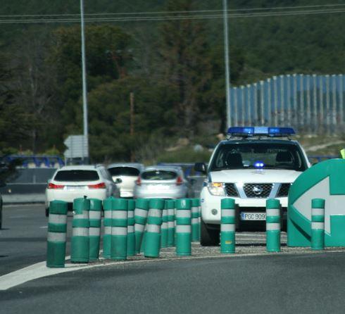 Cazado un motorista circulando a 191 km/h en una vía de 80 km/h