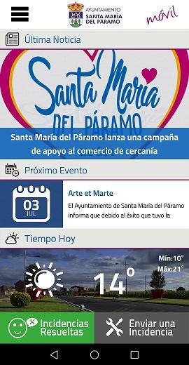 Santa María del Páramo lanza una nueva aplicación móvil