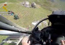 El GREIM de Sabero rescata a un montañero en Boca de Huérgano