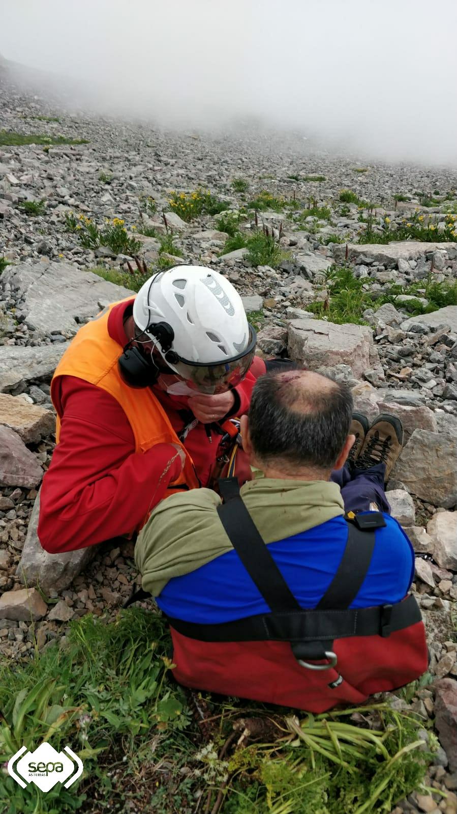 Herido un hombre tras sufrir una caía desde 400 metros de altura