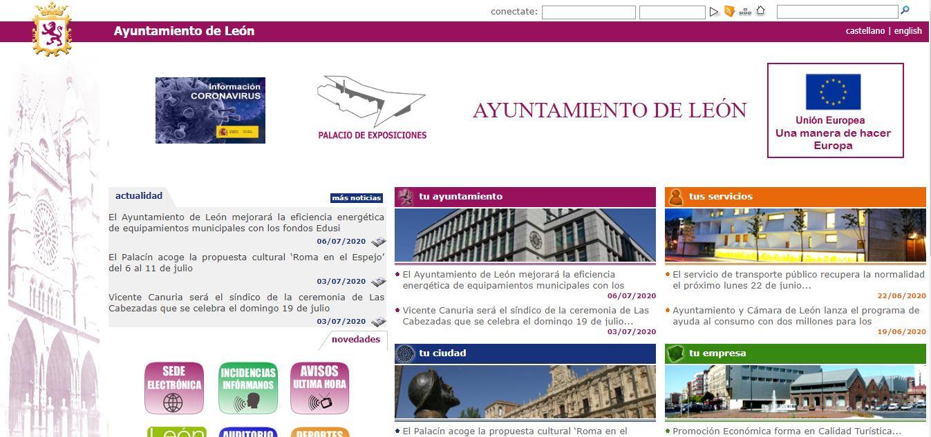 Ayuntamiento de León página web