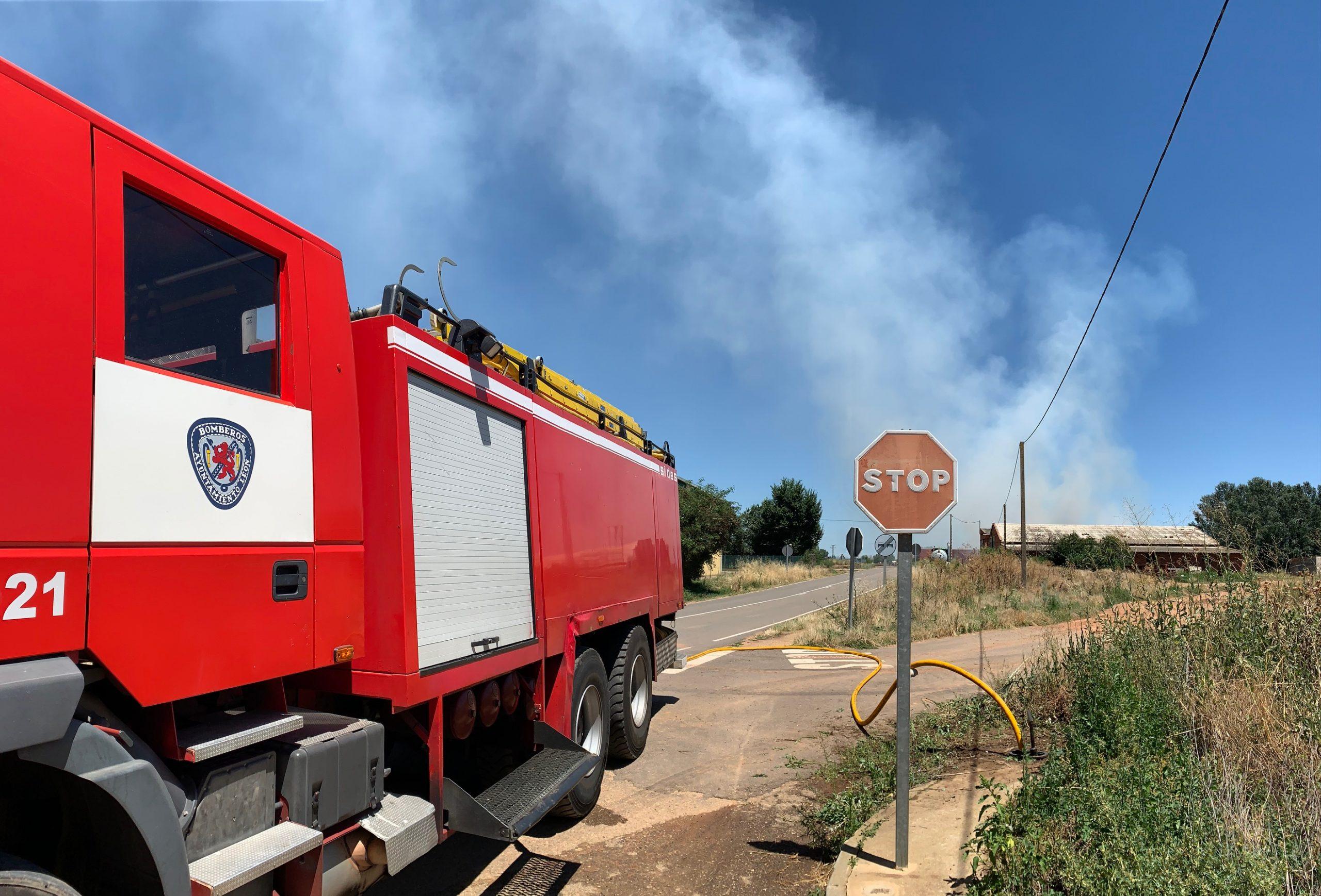 Incendio en Toral de los Guzmanes