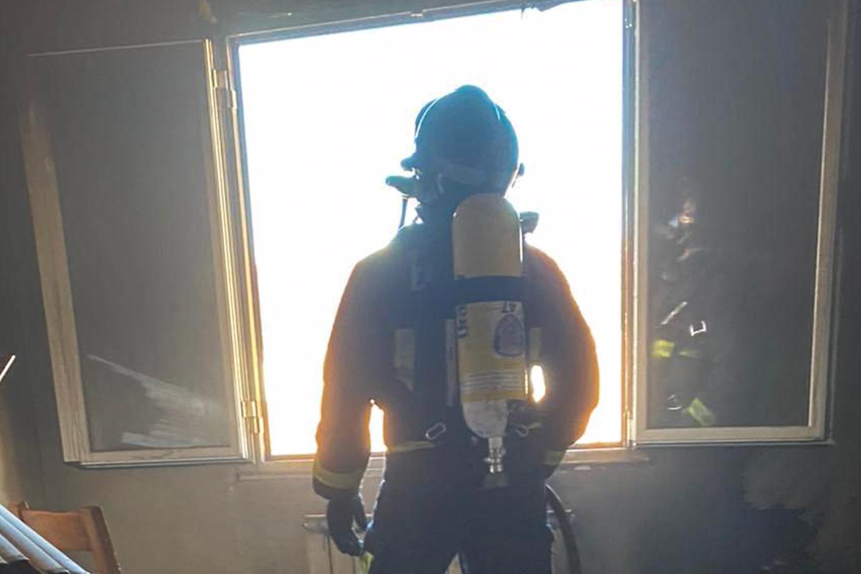 Los Bomberos de León acuden a un incendio en una vivienda