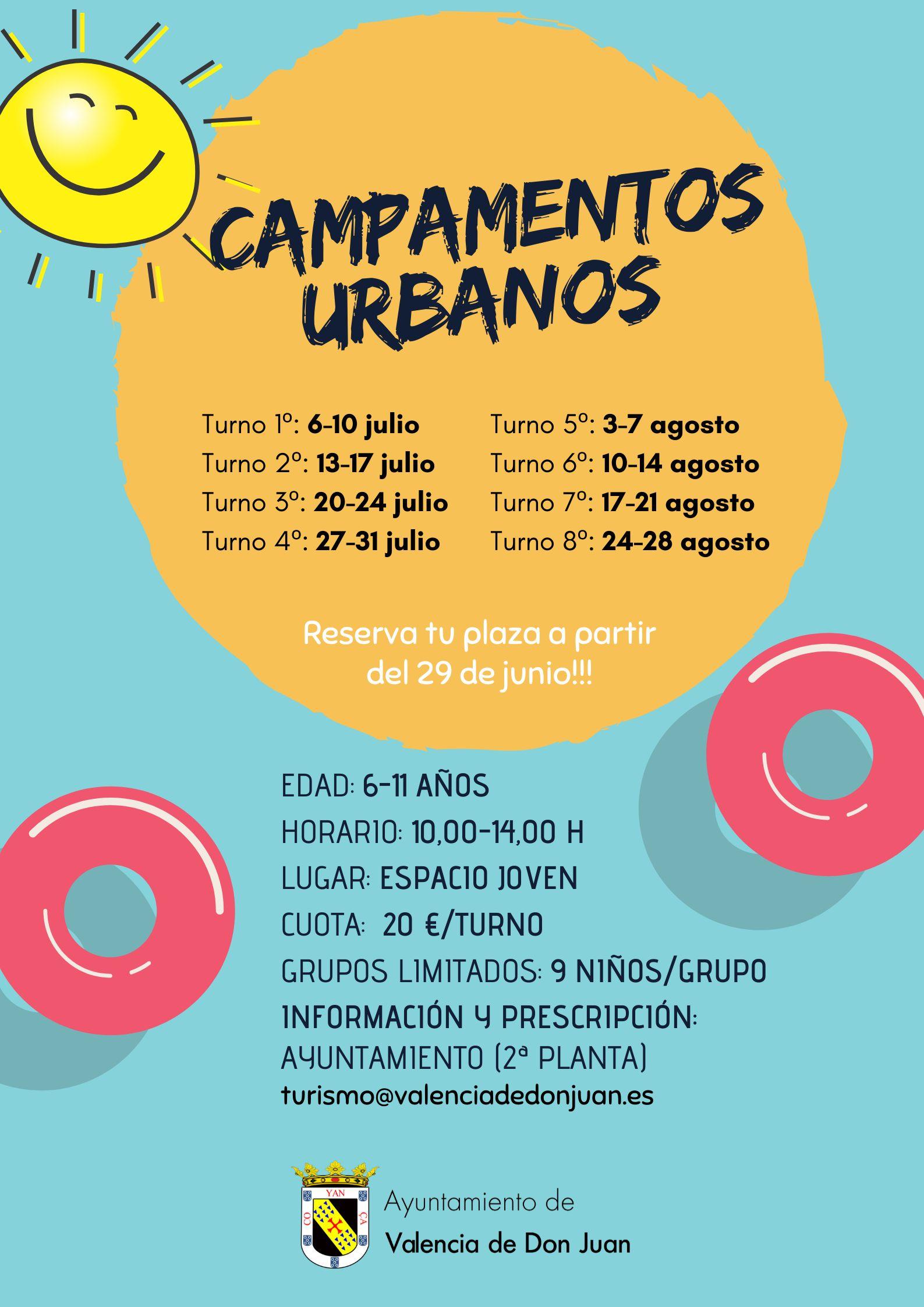 Puesta en marcha del servicio de campamentos 2.020 en León y provincia