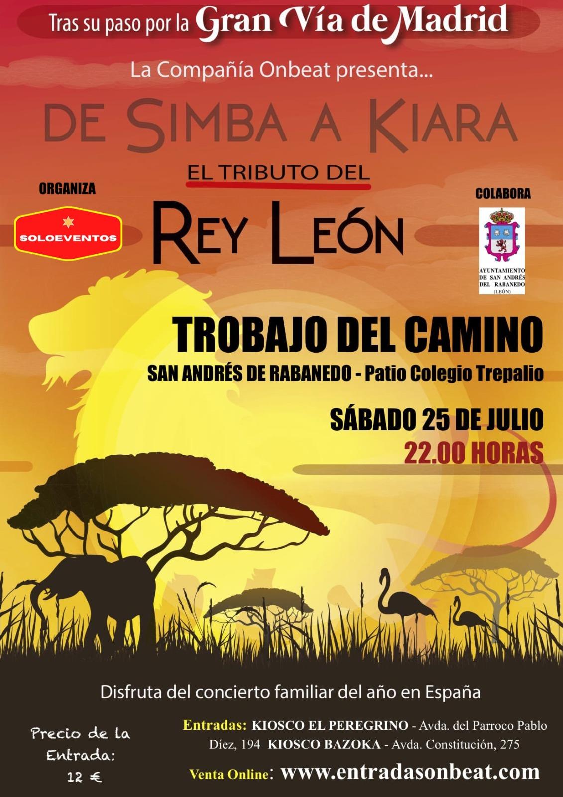 El Rey León llega a Trobajo del Camino, ¿te lo vas a perder?